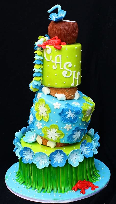 Luau Baby Shower Cakes by Luau Themed Baby Shower Cake Cakecentral