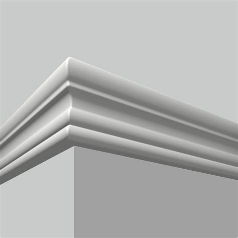 White Wall Panel Moulding Polyurethane Plain White Wall Panel Moulding Chair Rail
