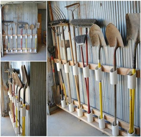 pvc pipe tool rack 25 creative diy storage hacks 8 is perfect for all