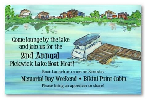 Lake House Personalized Party Invitations By Address To Impress Lake Invitation Templates Free