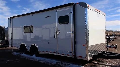24 foot toy hauler/cargo trailer   insulated trailer with