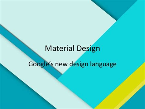 Material Management Ppt For Mba by Material Design Presentation