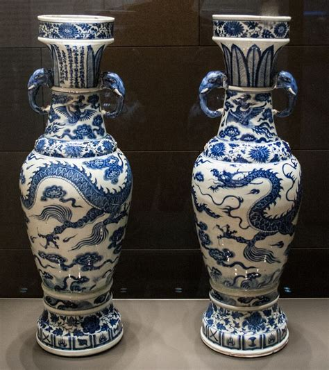 Temple Vase Yuan Dynasty by The David Vases Yuan Dynasty China 1351 C E White
