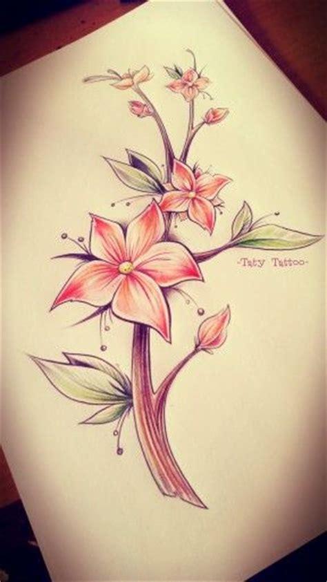 fiori colorati tatuaggi sketch flower color fiori colorati rosso