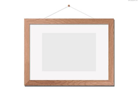 wooden photo frame template psd psdgraphics