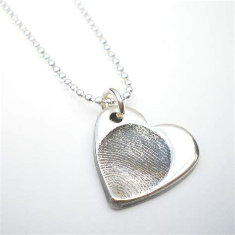 silver fingerprint necklace silver fingerprint jewelry