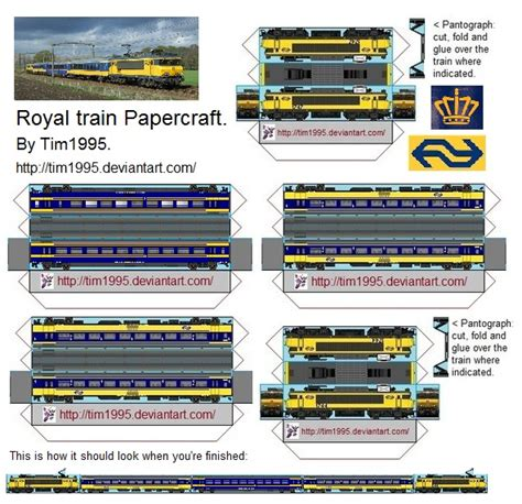 How To Make Paper Trains - royal papercraft by tim1995 on deviantart