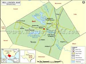 map of bell county bell county map