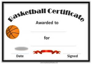 kid certificate templates free printable best photos of printable basketball template free