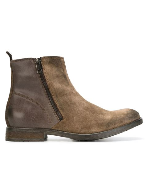 boots shoes for diesel d anklyx ankle boots in brown for lyst