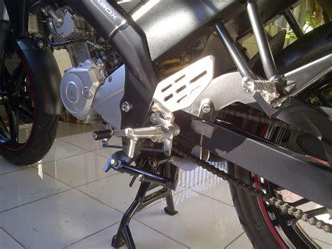 Karet Rantai Vixion modifikasi new vixion pake footrest underbone r15