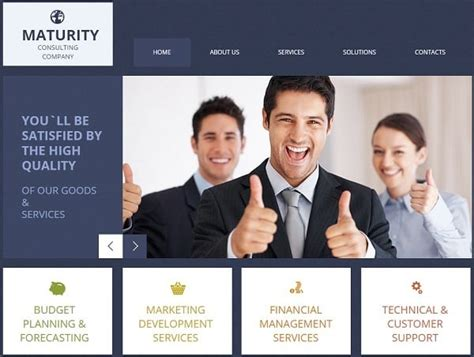 Consulting Website Templates For Your Business Efficiency Consulting Website Template