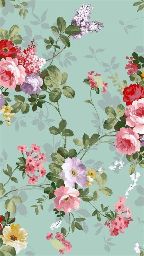 wallpaper iphone 5 vintage flower aqua floral wallpaper house walls iii pinterest