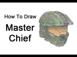 How To Make A Master Chief Helmet Out Of Paper - how to draw master chief halo
