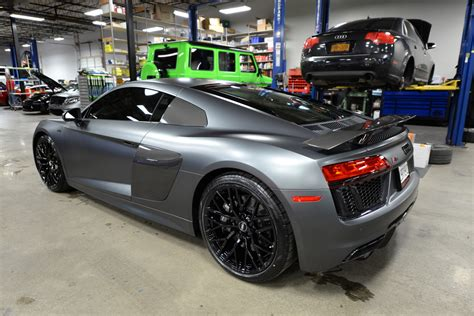 audi r8 blacked out 2017 audi r8 v10 matte daytona grey black out audiworld