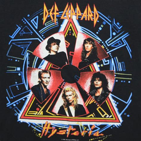 def leppard women def leppard hysteria tour shirt 1988 wyco vintage