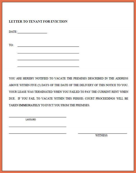 printable 7 day eviction notice eviction notice draft eviction notice tenant eviction