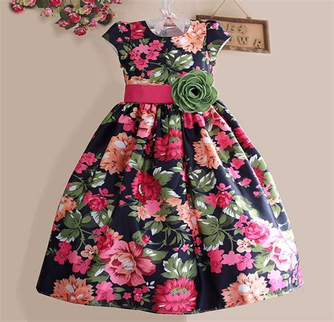 new dress black flower casual clothes