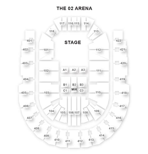 floor plan o2 arena the o2 arena seating plan londontheatre co uk