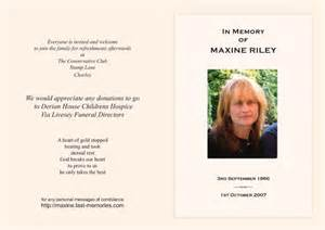 Wording For Funeral Program Funeral Order Service Back Quotes