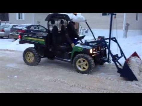 home made john deere gator snow bucket youtube