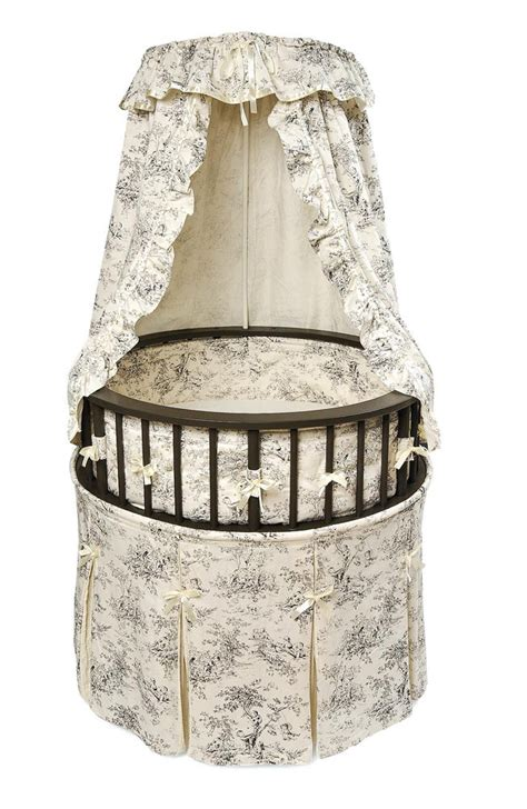 Baby Cribs And Bassinets Black Elegance Baby Bassinet Crib Toile Bedding Ebay