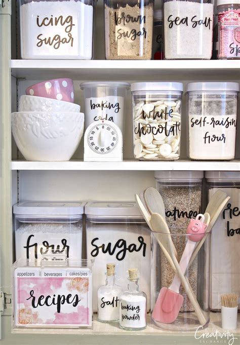 Diy Pantry Labels by The 35 Best Diy Kitchen Decorating Projects Page 4 Of 4