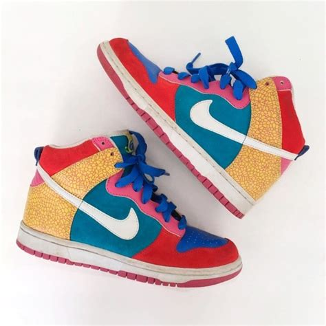 multi colored nikes 66 nike shoes nike dunk high 6 0 multi colored