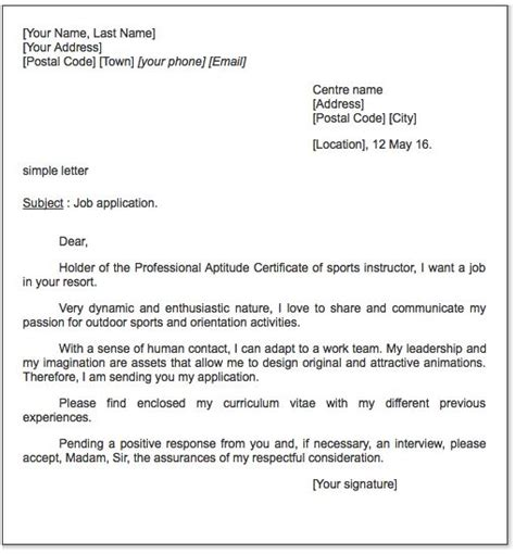 sports cover letter cover letter exle letter exle and sports on