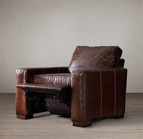 back chair restoration hardware restoration hardware maxwell leather recliner living