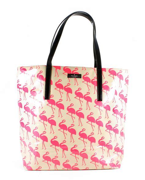 Kate Spade Tote Flamingo kate spade daycation bon shopper flamingo print tote bag new ebay