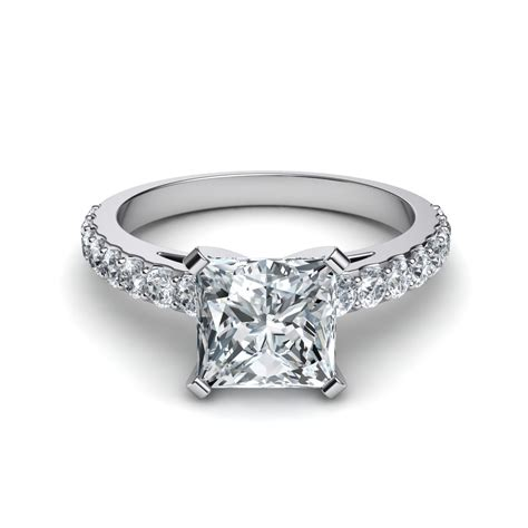 engagement rings shared prong princess cut engagement ring