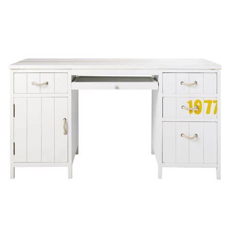 bureau ik饌 blanc bureau en bois blanc l 145 cm surf maisons du monde