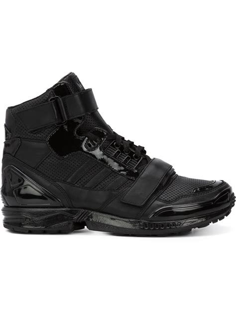 adidas originals zx 8000 leather high top sneakers in