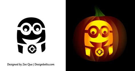 Pumpkin Carving Templates Minion free simple easy pumpkin carving stencils patterns for