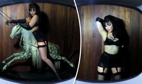 uk celebrities who love horses daisy lowe straddles rocking horse for sexy love advent