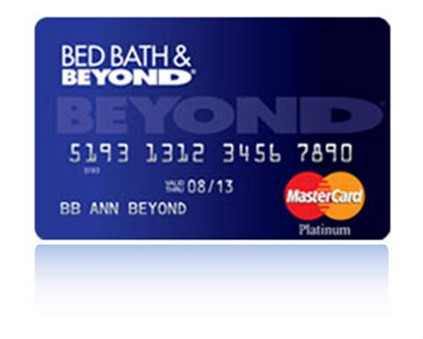 bed bath beyond credit card