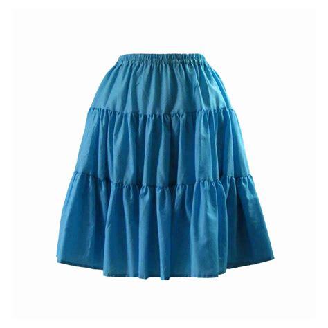 70s light blue a line skirt 8 blue 17 vintage