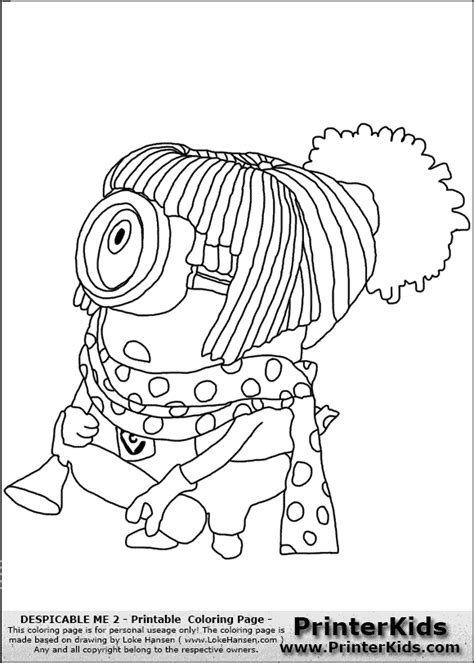 girl minion coloring page free minion girl coloring pages