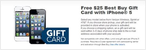 Best Buy Gift Card Not Activated - best buy gives 25 gift card when you buy an apple iphone 5 geeky gadgets