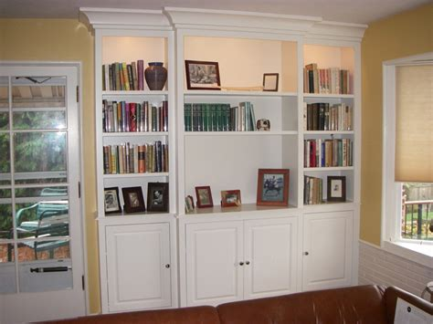 Built In Bookcase With Doors Bookcase With Doors