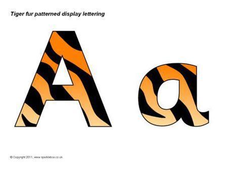 tiger pattern font tiger print display lettering sb4391 sparklebox