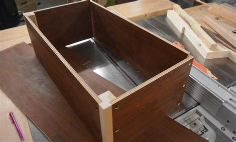 making  storage box  thin recycled plywood