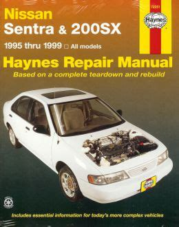 nissan sentra 1999 ga service manual download repair service manual pdf manuals parts lists and brochures