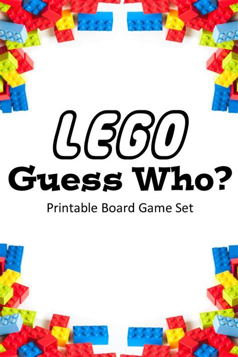 printable lego board games lego guess who board game lego board and gaming