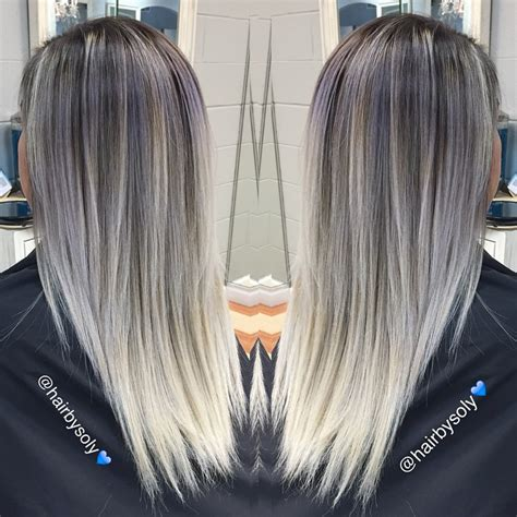 platinum silver blonde balayage silver to platinum balayage hair colors ideas
