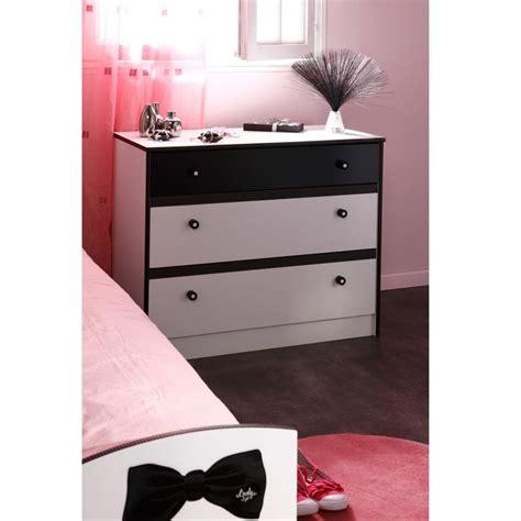 tete de lit blanche 2297 commode blanc noir