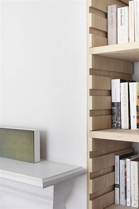 bookcase with adjustable shelves william smalley architect edwardian house refurbishment