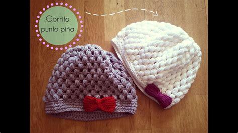 gorro de ganchillo facil punto pina crochet hat puff stitch tutorial paso  paso youtube