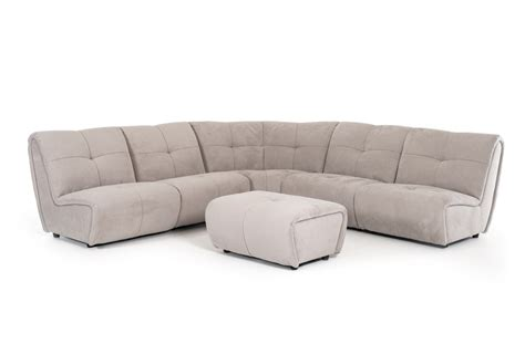 grey fabric sectional 6 piece grenada modern grey fabric sectional ottoman